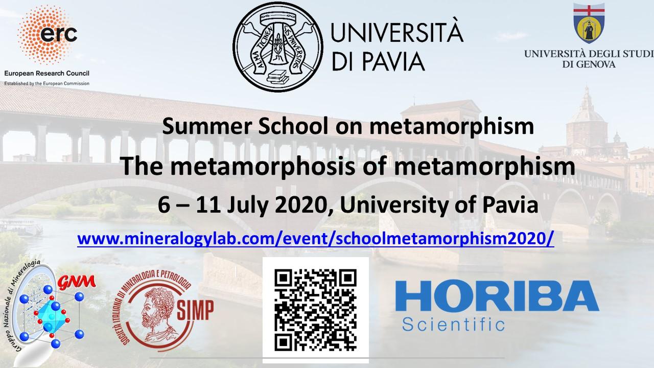 Summer School 2020.Mom 2020 Summer School Metamorphosis Of Metamorphism 2020